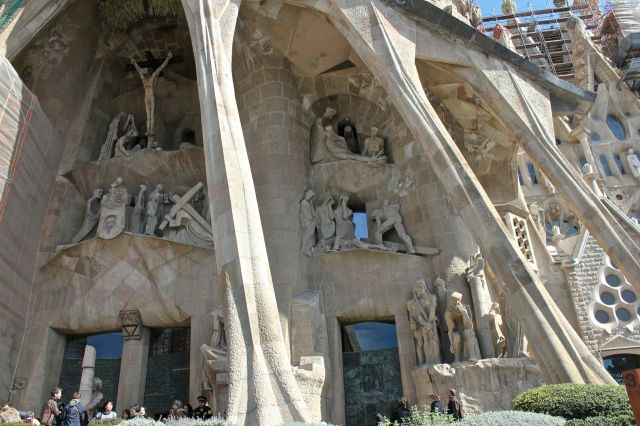 Passion Facade at the Sagrada Familia